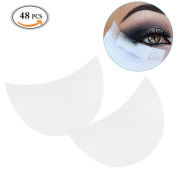 MLMSY Professional 48 Pcs White Colour Soft Lint Under Eye Lip Patch Pad Sticker Tapes False Eyelash Eye Lashes Extension Makeup Tool Lip Powder Holder