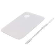 OVERMAL Beauty Palette, Pro Stainless Steel Cosmetic Makeup Palette Spatula Tool