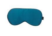 LinkHealth 100% Natural Silk Larger Size Eye Sleep Mask - Improve Sleep, Alleviate Puffy, Swollen Eyes, Fatigue, Headache and Tension - Peacock Blue