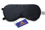 Adbama® 100% Natural Mulberry Silk Filled Sleep Mask with 2 Adjustable Straps, Super Smooth & Soft Sleeping Eye Masks for Travelling, Flight, Nap or Yoga