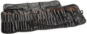 DRQ Makeup Brushes 24pcs Quality Natural Cosmetic Brush Set with Leather Pouch, 24 Count Bursh set For Eye Shadow, Blush, Concealer, Etc