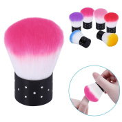 Elite99 Nail Brush For Nail Art Manicure Dust Cleaner Remover Makeup Cosmetic Face Brush Cleaning Tool Rose Red