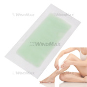 USA Seller WindMax® Aloe Vera Double Side Cold Wax Hair Removal Strips Paper Spa Skin Care for Leg Body Facial Hair