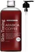 Shampoo & Body Wash, 100% Arabica Bean Coffee All Natural, 240ml Anti Hair Loss, Restore Hair Growth, Manageable Hair, by Pure Body Naturals