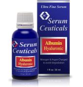 Albumin & Hyaluronic Acid Serum-Glutathione, Niacinamide, Panthenol, Beta Glucan.