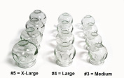 12 pc Fire Glass Cupping Set Jars Professional Quality (4 cups #3 ) (4 cups #4)