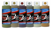 Face Painting Makeup - ProAiir Waterproof Makeup - Set of 6 Ghoulish Zombie Colours - 1 oz