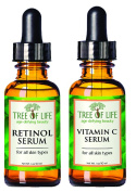 Anti Ageing Serum Two-Pack - 72% ORGANIC - Vitamin C Serum - Retinol Serum - SATISFACTION GUARANTEED