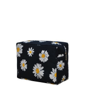 Daisy Print Large Cosmetic Travel Pouch