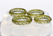 NEW! Clear Silicone Faceted multi-Ring Mould,size 6,7,8,9.