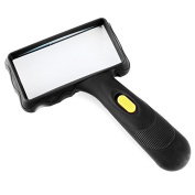 Home-organiser Tech Oversized Rectangular 2x Ultra Bright Rectangular Handheld LED Magnifier Reading Magnifying Glass Lens for Seniors,Low Vision,Books,Magazines, Newspapers, Maps and More