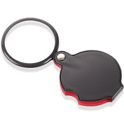 Home-organiser Tech 8X Mini Pocket Folding Magnifier Glass Lens Jewellers Loupe Magnifier Black Best for Jewellery Identifying Type, Diamonds, Coins