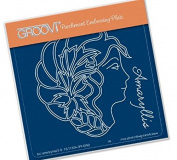 Groovi Amaryllis Cameo A6 Plate - Laser Etched Acrylic for Parchment Craft