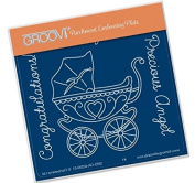 Groovi Pram A6 Plate - Laser Etched Acrylic for Parchment Craft