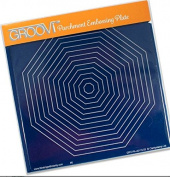 Groovi Parchment Embossing Plate - Octagon Nested A5 - Laser Etched Acrylic for Parchment Craft