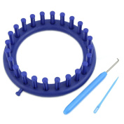 MEXUD-New 14CM Blue Round Circle Hat Classical Knitter Knifty Knitting Knit Loom Kit