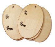 Cardinal Arts & Crafts Oval Wooden Gift Tags, Set of 5