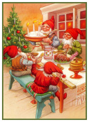 Elves Holiday Meal Jenny Nystrom Christmas Counted Cross Stitch Pattern