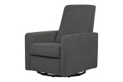DaVinci Piper All-Purpose Upholstered Recliner with Piping, Dark Grey