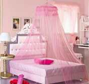 Sell4Style Mosquito Net for Bed Canopy Dome White Elegant Lace