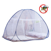 Mosquito Net for Bed | Yoosion Pop Up Mosquito Net Bed Guard Tent Folding Attached Bottom 200*180*150 Moustiquaire Bed Zipper Anti Mosquito Bites for Babies Toddlers Kids Adult Travel