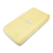 TL Care Heavenly Soft Chenille Fitted Contoured Changing Pad Cover, Maize