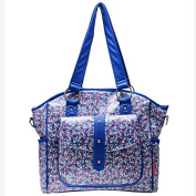 Bellotte Designer Tote Nappy Bag, Blue Flora