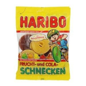 Haribo Fruit and Cola Schnecken Jelly 175g.