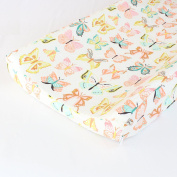 Winged Butterflies Changing Pad Cover - Fits Standard Contoured Changing Pads