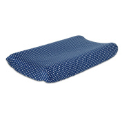 Navy Blue Baby Changing Pad Cover with Confetti Dots by The Peanut Shell
