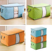 Yosoo 3 Pcs Bamboo Charcoal Large Durable Foldable Clothes Quilt Pillow Blanket Storage Zipper Bag Case Container Organisers Container Box
