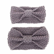 Alonea Adults And Baby Keep Warm Elastic Hair Band Crochet Knitted Headband