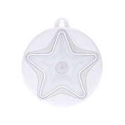 Shiratori Body Infared Sensor LED Night Lights Star Shape for Outdoor Bedroom Bathroom Door Lock and for Cabinet,Easily Sticked,Silver