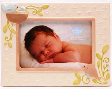 C.R. Gibson Nest Ceramic Keepsake Photo Frame (Discontinued by Manufacturer)