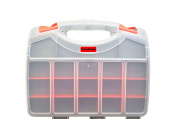 Deluxe Double Sided Storage Organiser Carrying Case with 36 Compartments - Used as a Tacklebox/Tool box/Craft Sorter. Holds Fasteners/Screws/Fishing/Tackle/Tools/Crafts/Beads/Electronics/Components