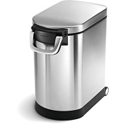 simplehuman Brushed Stainless Steel 25-litre/6.5-gallon Pet Food Storage Can