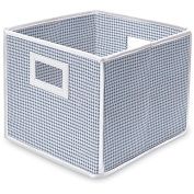 Blue Gingham (Pack of 3) Folding Storage Cubes