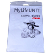 MyLifeUNIT Paper White Sketch - 50cm x 38cm Durable Sketching Paper