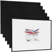US Art Supply 20cm X 25cm Black Professional Artist Quality Acid Free Canvas Panels 6-Pack