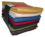 National Nonwovens WCF006-ASST 100% Virgin Homespun Collection Fat Quarters Wool Felt