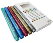 MB Metallic Ink Marker Set for Use on Glass, & Other Smooth, Non Porous Surfaces. Great for marking & labelling!