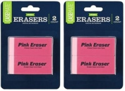 Casemate Pink Erasers Package of 2 each