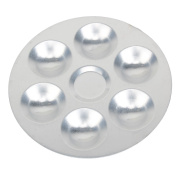 WEONE 6-Well Round Aluminium Palette & Light Plastic Paint Platte Tray For Mix Colour