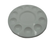 Professional Strong Plastic Paint Tray Palette - 10 Well Round