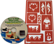 Reusable Flame Stencil Designs for Glass Etching or Painting