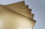 Gold Metallic (glossy) 5-pack of adhesive vinyl sheets - 30cm x 30cm outdoor/permanent - VinylxSticker