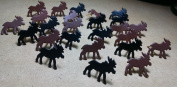 Assorted Moose Brads - 25ct