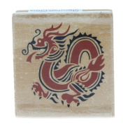 Rubber Stampede Chinese Inspired Dragon Wooden Rubber Stamp