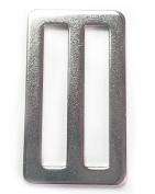 10 pcs 3.8cm Tri-Glides Heavy Stamped Steel Webbing Slide Adjuster Buckle