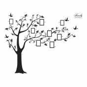 YiZYiF DIY Family Photo Frame Tree Removable Wall Decor Art Stickers Home Decor for Living Room & bedroom